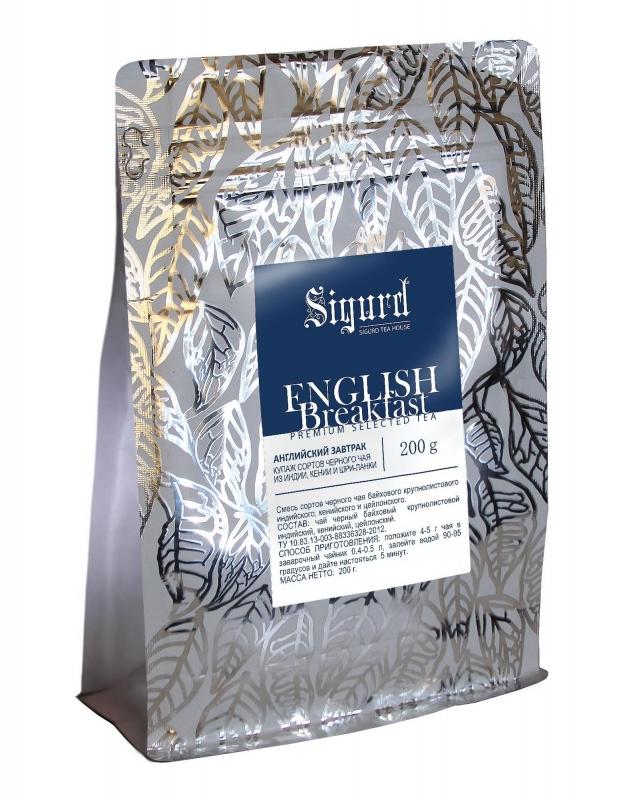 Чайчерный листовой Sigurd English Breakfest Английский завтрак 200 г