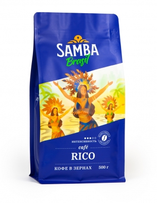 Кофе в зернах Samba Rico 500 г