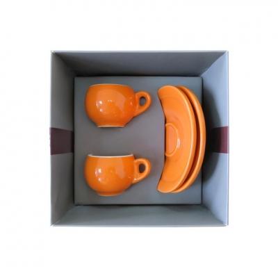 Подарочный набор для эспрессо Danesi оранжевый, на 2 персоны