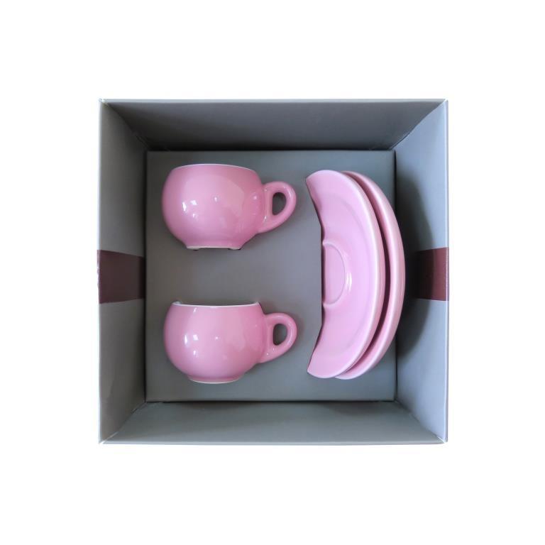 Подарочный набор для эспрессо Danesi розовый, на 2 персоны