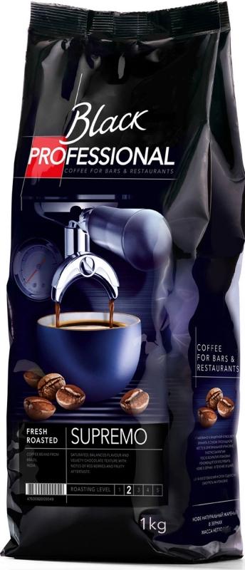 Кофе в зёрнах Black Professional Supremo 1 кг