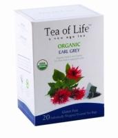 Чай в пирамидках органический Tea of life Эрл Грей