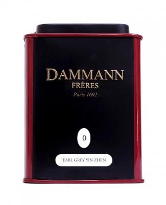 Чай черный Dammann Earl Grey Yin Zhen (Дамманн Эрл Грей Инь Жень) листовой в жестяной банке 30 гр