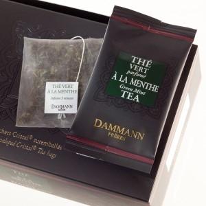 Чай зеленый Зеленый с мятой Dammann The Vert a la Menthe листовой в шелковых пакетиках 24 шт.