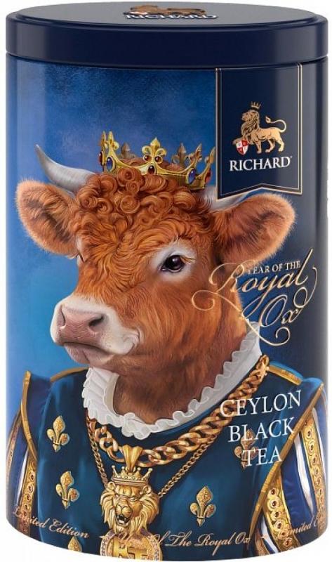 Чай черный рассыпной Richard Year of the Royal OX в ассортименте 80 г